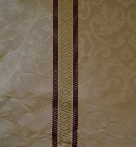 Gold Damask with Regency Stripe