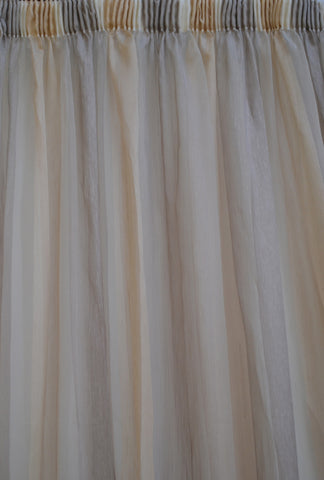 Taupe & Gold Stripe Sheer
