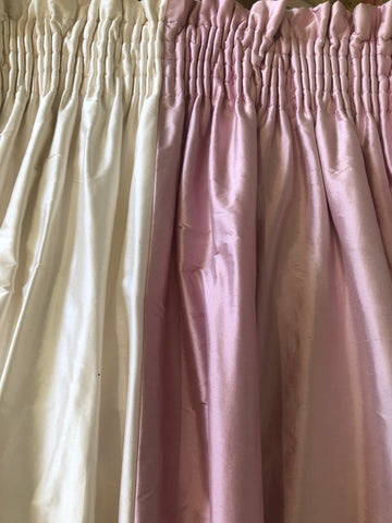Pink and Ivory Silk Stripe