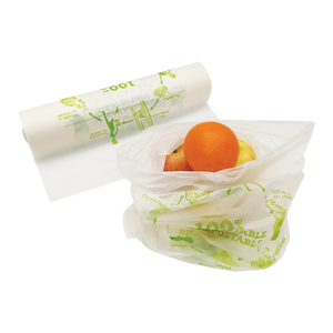 Natural Small Compostable Produce Bag