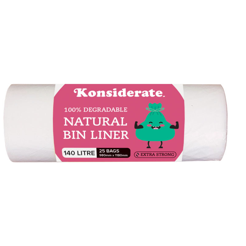 Natural 140Lt Degradable Bin Liner