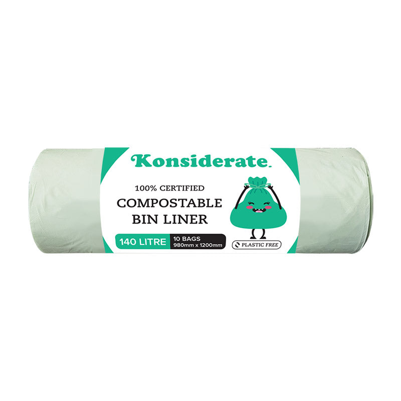 Green 140Lt Certified Compostable Bin Liner