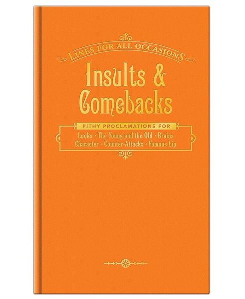Orange hard back insults and comebacks book