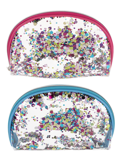 Pink and Blue sparkle make up bags