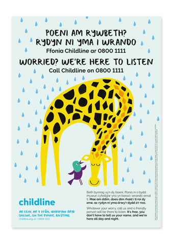 Childline Primary School poster pack (10 posters per pack) - BILINGUAL WELSH/ENGLISH