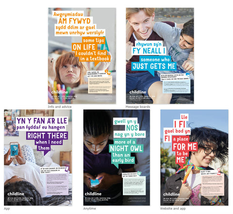 Childline Secondary School poster pack (10 posters per pack) - BILINGUAL WELSH/ENGLISH