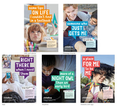 Childline Secondary School poster pack (10 posters per pack) - ENGLISH