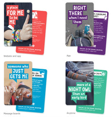 Childline Secondary School wallet card pack (50 cards per pack) - ENGLISH