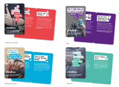 Childline Secondary School wallet card pack (50 cards per pack) - BILINGUAL WELSH/ENGLISH