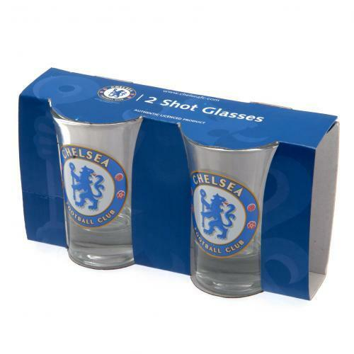 Chelsea F.C 2 Pack Shot Glass Set (Official Licensed Product).