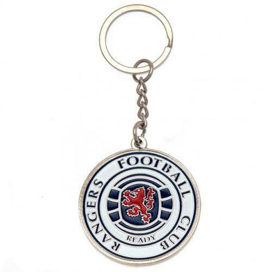Rangers F.C Metal Crest Keyring (Official Licensed Product).