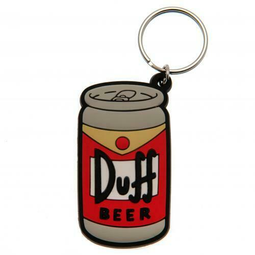 The Simpsons Duff Beer Key Ring (Official Licensed Product).