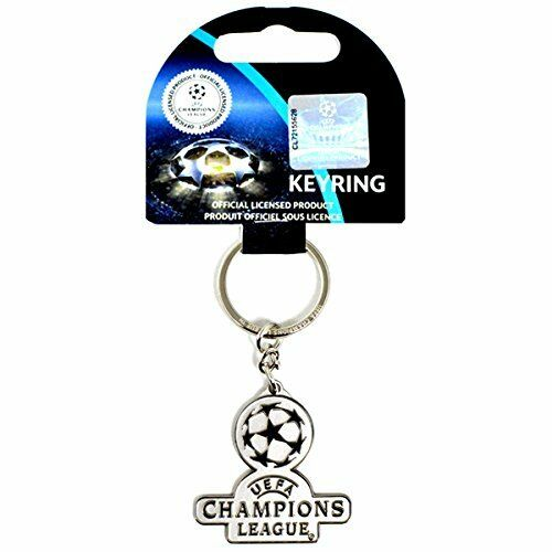 UEFA Champions League Metal Crest Keyring (Official Licensed Product) NEW.