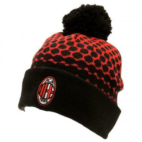 AC Milan Knitted Ski Hat (Official Licensed Product).
