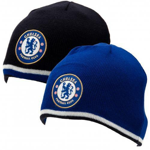 Chelsea F.C.Reversible Knitted Beanie Hat (Official Licensed Product).