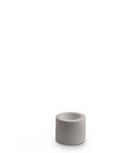 Load image into Gallery viewer, Ribbed Infinity Candle Holder Light Grey