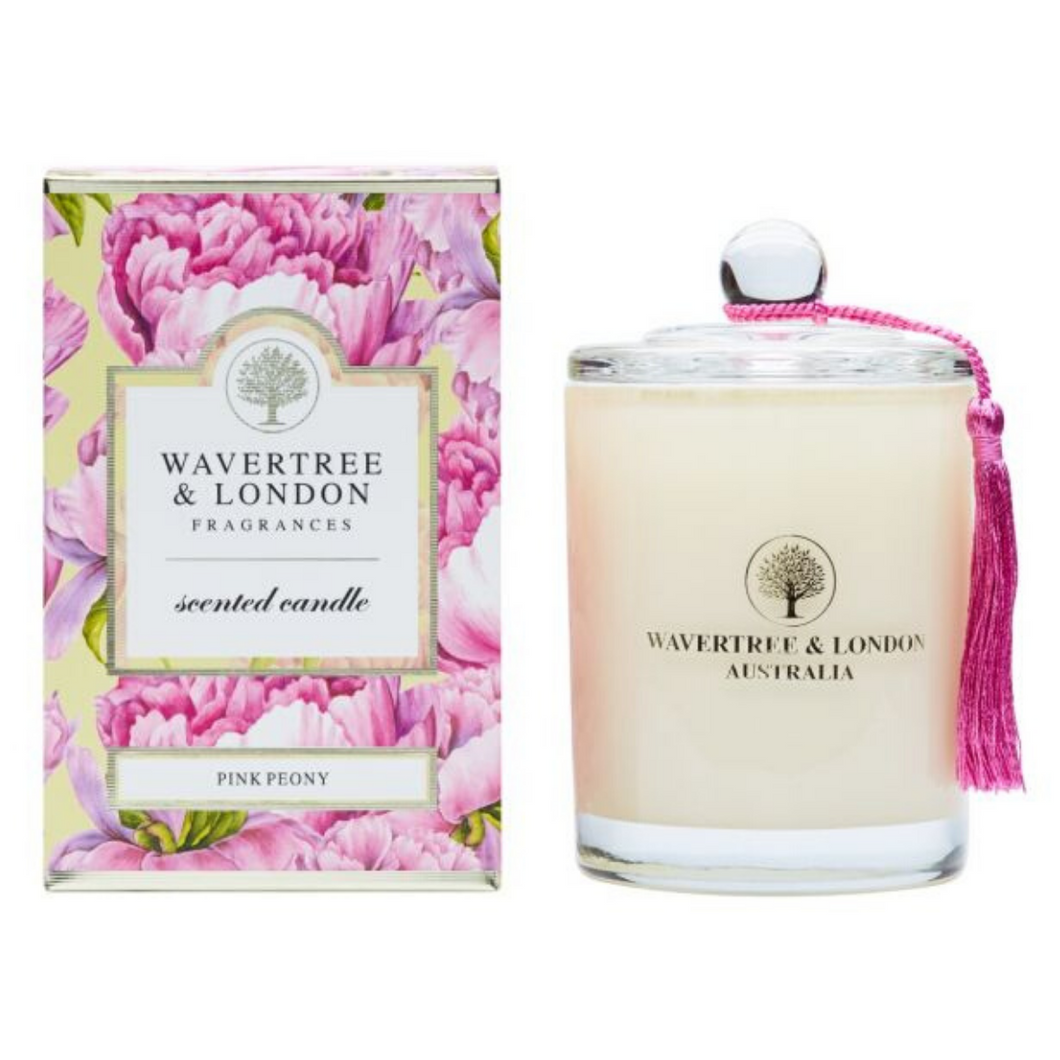 Pink Peony Candle by Wavertree & London