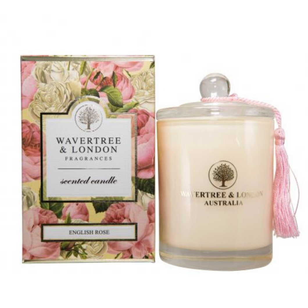English Rose Candle by Wavertree & London