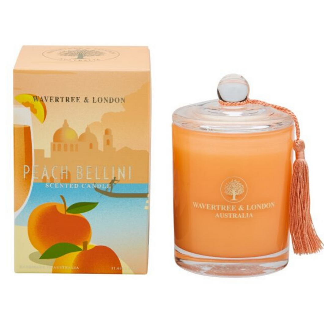 Peach Bellini Candle by Wavertree & London