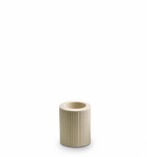 Load image into Gallery viewer, Ribbed Infinity Candle Holder Cream
