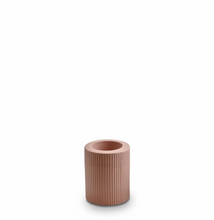 Load image into Gallery viewer, Ribbed Infinity Candle Holder Ochre