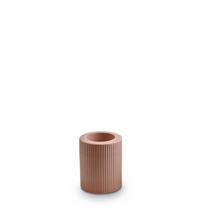 Ribbed Infinity Candle Holder Ochre