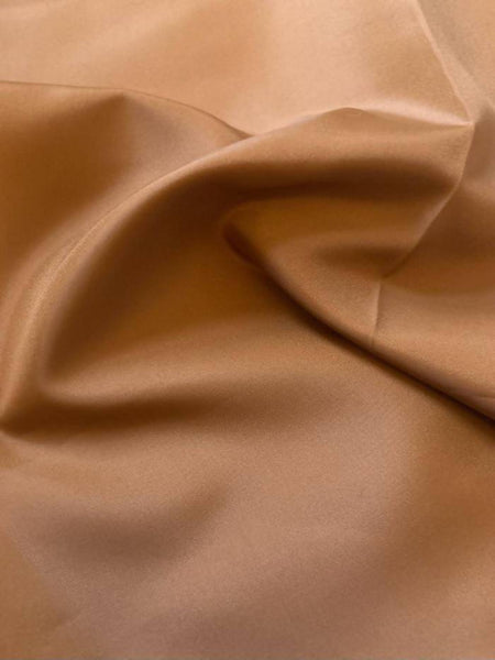 Cognac anti static Taffeta lining - Deadstock fabric on AmoThreads