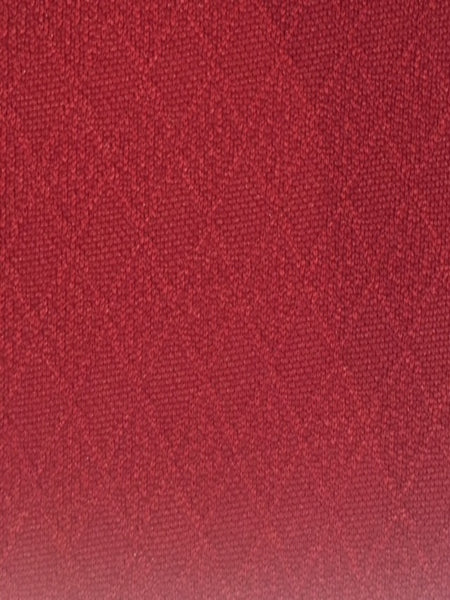 Burgundy self coloured Jacquard diamond knit