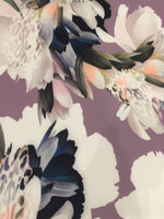 Multi Flower on Lilac with Animal Skin Highlight on Woven stretch