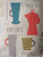 Coffee Theme PVC Coated Cotton