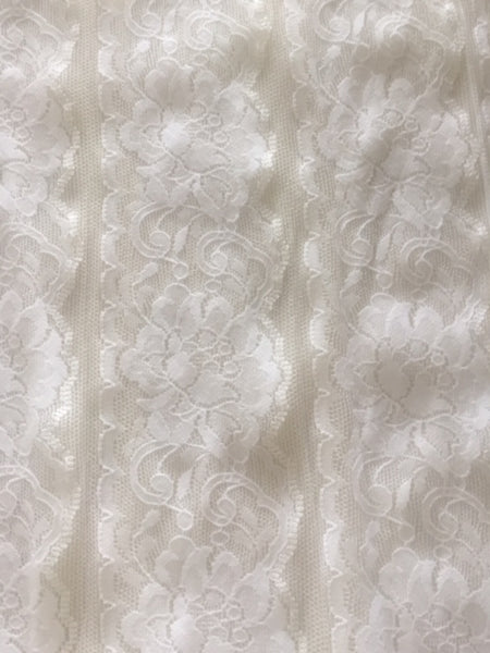 Off White Panelled lace