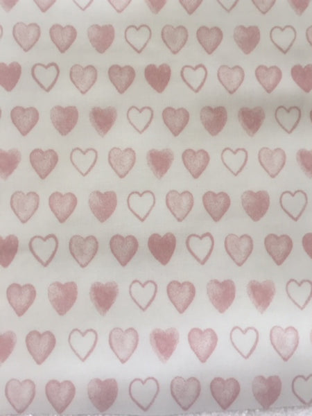 Pink Heart PVC Coated Cotton
