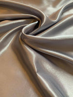 Silver Satin Backed Crepe - Deadstock fabric on AmoThreads