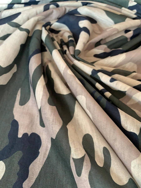 Green/Beige Camouflage - Deadstock fabric on AmoThreads