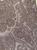 Chestnut paisley print on smooth viscose knit - Deadstock fabric on AmoThreads