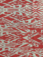 Red/Ivory Aztec style print on Chiffon - Deadstock fabric on AmoThreads