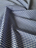"Royal 1/8"" Gingham Check - Deadstock fabric on AmoThreads"