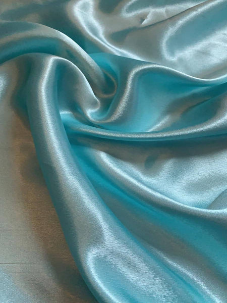 Spearmint Satin Backed Crepe - Deadstock fabric on AmoThreads