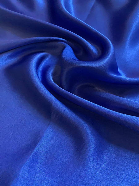 Royal Satin Backed Crepe - Deadstock fabric on AmoThreads