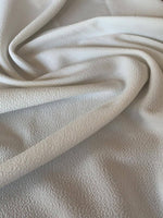 Ivory single sided textured Knit - Deadstock fabric on AmoThreads