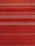 Red panelled dot and checkerboard print on knit - Deadstock fabric on AmoThreads