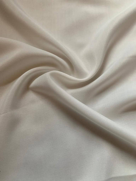 Ivory soft Taffeta with slight sheen - Deadstock fabric on AmoThreads