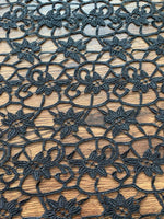 Black Guipure Lace - Deadstock fabric on AmoThreads