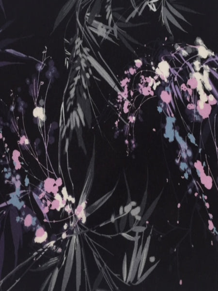 Lilac Reed Print on Black