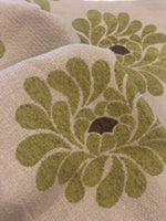 Bright Green on Cream heavy Jacquard