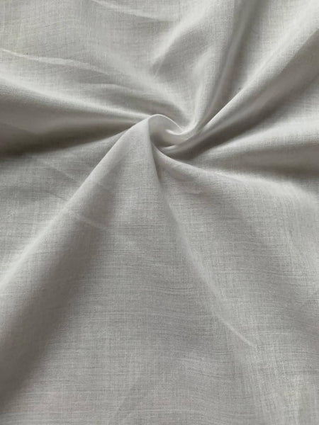 Ivory plain weave Poly/Cotton - Deadstock fabric on AmoThreads