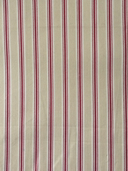 Red/Cream Cotton Stripe