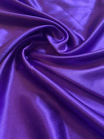 Violet Satin Backed Crepe - Deadstock fabric on AmoThreads