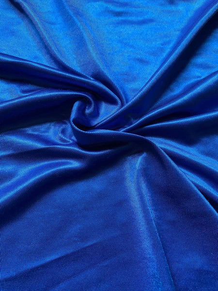 Bright blue shimmer, fluid drape knit - Deadstock fabric on AmoThreads