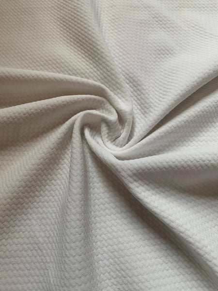 Ivory single sided textured stretch - Deadstock fabric on AmoThreads